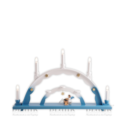 LEF 040 Candle Arch with Angel and Zither, electric, coloured