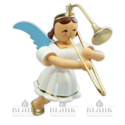 SEF 004 Hanging Angel with Slide Trombone, coloured