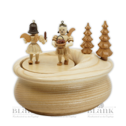 SP 020 Music box, with 2 gift givers, oval