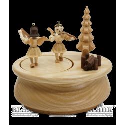 SP 021 Spieldose mit 2 Engeln, oval von Blank Kunsthandwerk, Gruenhainichen