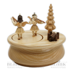 SP 021 Music box with 2 angels, oval