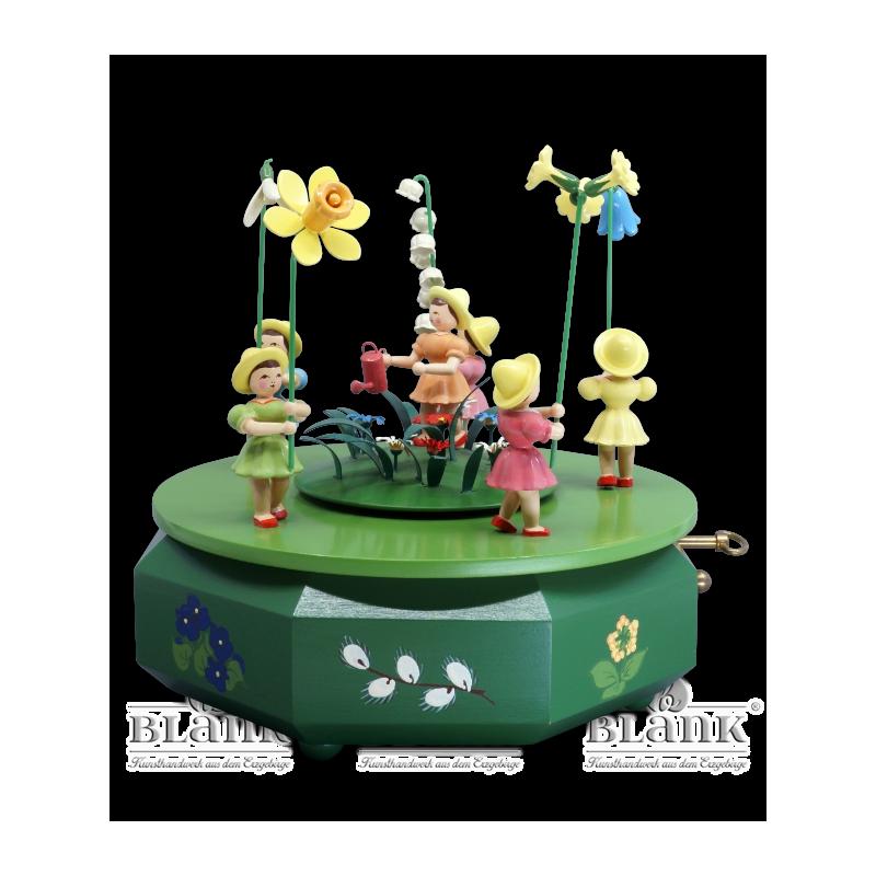 SPF 004 Spieldose mit 5 Blumenkindern, farbig