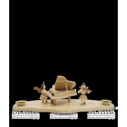 WO 002-2 Wolke mit Engel am Flügel und Violinenengel von Blank Kunsthandwerk, Gruenhainichen