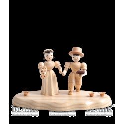 WO 004-4 Brautpaar auf Wolke von Blank Kunsthandwerk, Gruenhainichen