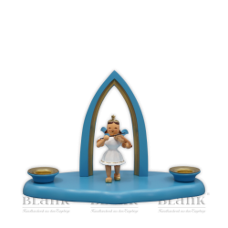 WOFS 003-1 Kleine Wolke mit Engelmusikant uns Spitzbogen, farbig von Blank Kunsthandwerk, Gruenhainichen