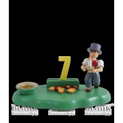 WOG 004-3 Gratulanten-Junge mit Zahlensatz 0-9, farbig von Blank Kunsthandwerk, Gruenhainichen