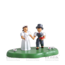 WOG 004-4 Bridal Couple on Cloud, coloured
