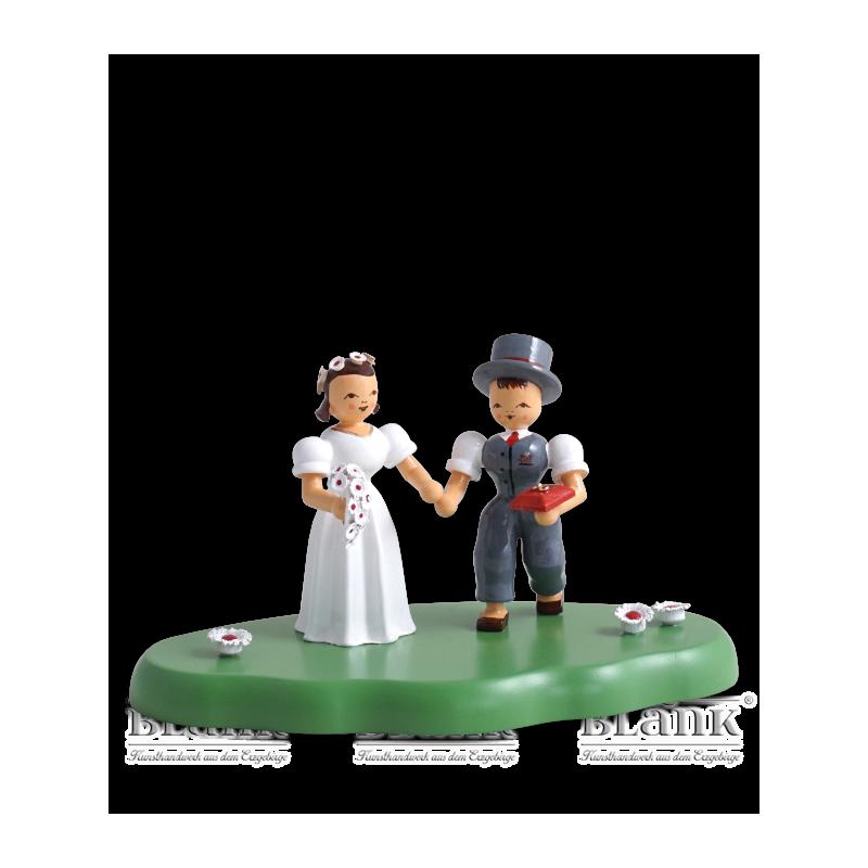 WOG 004-4 Brautpaar auf Wolke, farbig