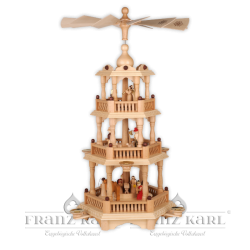 2660 Pyramid with baroque fence, 3 levels