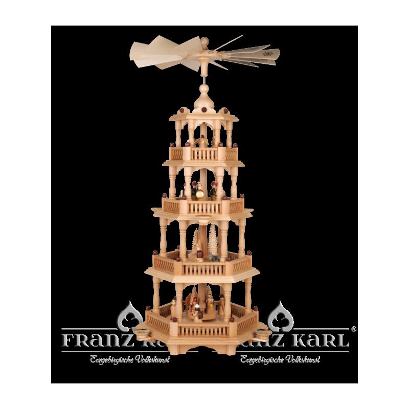 2670 Pyramide mit Barockzaun und 4 Etagen