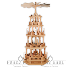 2670 Pyramid with baroque fence, 4 levels, electric