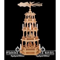 2670 Pyramide mit Barockzaun und 4 Etagen, elektrisch