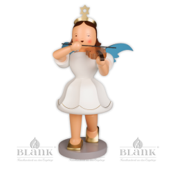 EKFG 011 Angel with Short Pleated Skirt and Violin, 50 cm, coloured