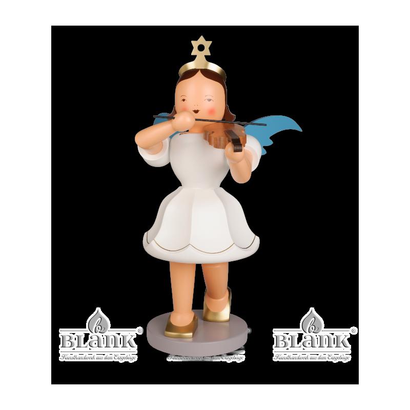 EKFG 011 Angel with Short Pleated Skirt and Violin, 50 cm, coloured