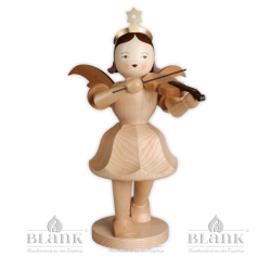 EKG 011 Angel with Short Pleated Skirt and Violin, 50 cm