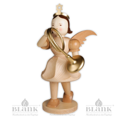 EKG 015 Angel with Short Pleated Skirt and French Horn, 50 cm