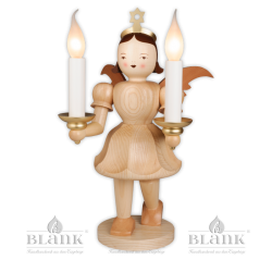 EKG 024 E Angel with Short Pleated Skirt and Electric Lighting, 50 cm