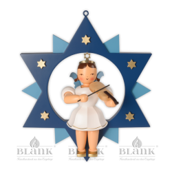 ESFM 011 Angel in a Star with Violin, 30 cm, coloured
