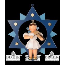 ESFM 011 Engel im Stern mit Violine, 30 cm, farbig von Blank Kunsthandwerk, Gruenhainichen