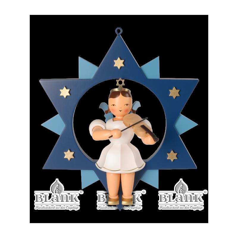 ESFM 011 Engel im Stern mit Violine, 30 cm, farbig