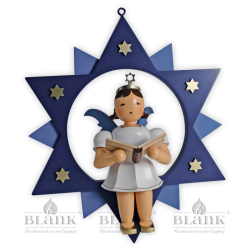 ESFM 019 Angel in a Star Singer, 30 cm, coloured
