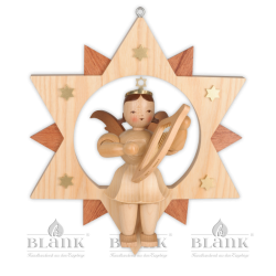 ESM 007 Angel in a Star with Lyre, 30 cm