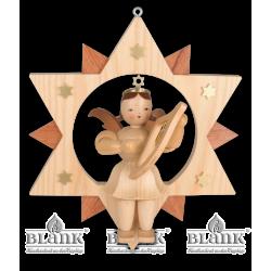 ESM 007 Engel im Stern mit Leier, 30 cm von Blank Kunsthandwerk, Gruenhainichen
