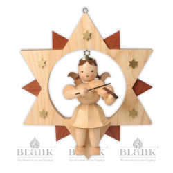 ESM 011 Engel im Stern mit Violine, 30 cm