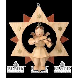 ESM 011 Engel im Stern mit Violine, 30 cm von Blank Kunsthandwerk, Gruenhainichen