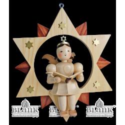 ESM 019 Engel im Stern Sänger, 30 cm von Blank Kunsthandwerk, Gruenhainichen