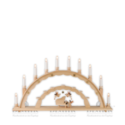 LE 020 Candle Arch with Angel and Piano