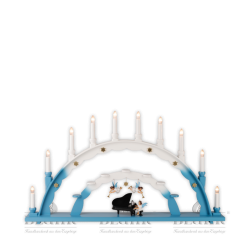 LEF 020 Candle Arch with Angel at Piano and two Hanging Angels, coloured