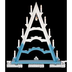 LEF 060 Schwibbogenspitze mit einem Schwebeengel, farbig von Blank Kunsthandwerk, Gruenhainichen