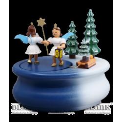 SPF 020 Spieldose mit 2 Gabenbringern, oval, farbig von Blank Kunsthandwerk, Gruenhainichen
