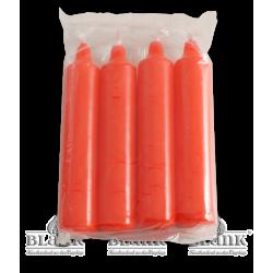LEF KERZEN R Kerzen für Adventsleuchter, rot, 4 Stück von Blank Kunsthandwerk, Gruenhainichen