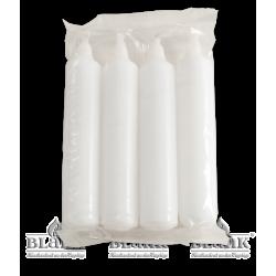 Kerzen für Adventsleuchter, weiß, 4 Stück