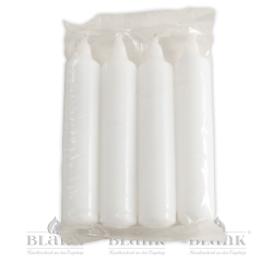 Candles for Candleholder, white, 4 pieces