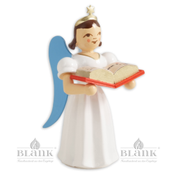 Angel with Short Pleated Skirt and Story Book, coloured