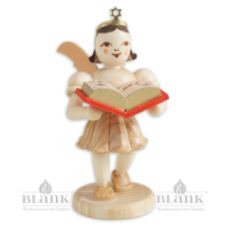 Angel with Short Pleated Skirt and Story Book
