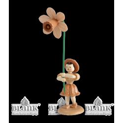 BK 013 Blumenkind mit Narzisse von Blank Kunsthandwerk, Gruenhainichen