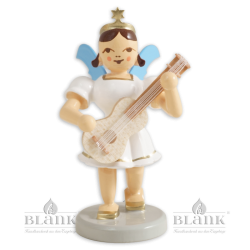 Angel with Short Pleated Skirt with Guitar, coloured