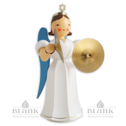 Angel with Long Robe and Cymbals, coloured, 20 cm
