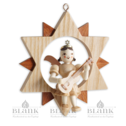 ES 006 Engel im Stern mit Gitarre von Blank Kunsthandwerk, Gruenhainichen