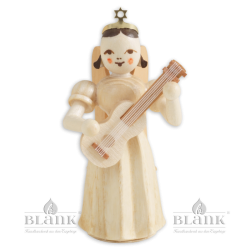 Angel with Long Pleated Robe and Guitar