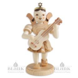 Angel with Short Pleated Skirt and Guitar