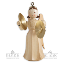 Angel with Long Pleated Robe and Cymbals, 20 cm