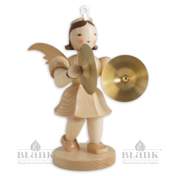 Angel with Short Pleated Skirt and Cymbals, 20 cm