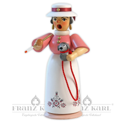 """Incense smoking woman """"Lady with Dog"""" - 18 cm (7.1 inches)"""