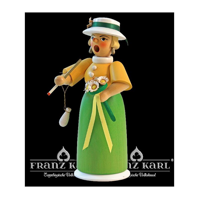 "Rauchfrau ""Lady mit Blumen"" - 18 cm"