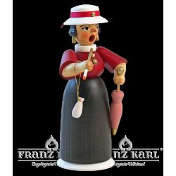 1171 Rauchfrau Lady mit Schirm, farbig von Blank Kunsthandwerk, Gruenhainichen